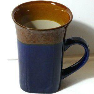 Royal Norfolk Mug Cup Tall Blue Brown Square